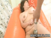 Kumiko Kaga - A Chubby Mature Japanese Craving For A Fuck