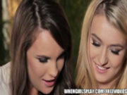 Absolutely stunning blond is eaten out by her SEXY brunette GF