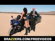 Busty biker beauty Destiny Dixon gets caught speeding