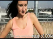 Busty amateur eurobabe twat fucked for money on a roofdeck