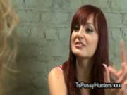 Asian tranny fucks her redhead bestie