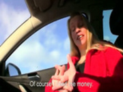 Blonde amateur gives blowjob in the car and gets pounded