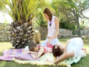 Incredible sapphic threesome from Russia -3
