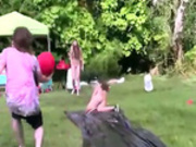 Young luxury couple fucking in outdoor