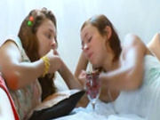 Insane russian lesbo vagina eating -2