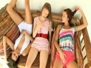 Three portuguese teenagers masturbating