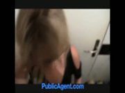 Blond amateur bathroom blowjob