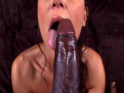 Olivia Wilder can hardly even get the whole thing in her mouth