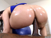 Valentina Nappi rides her big oiled ass on big black cock