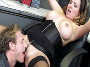 Danica Dillon has her boss eat her juicy pussy right at her work place