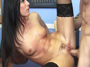 Sex hungry boss India Summer has her employee fuck her MILF crack