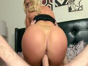 Big ass MILF Nikki Benz riding him until she came