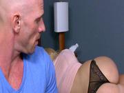Innocent looking girl Melissa May seducing her step dad