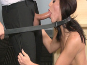 Adriana Chechik gave him sloppiest blowjob you've ever seen