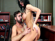 Professor Alektra Blue fucks her student in her office