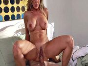 Foxy MILF Brandi Love loves to ride hard young cock