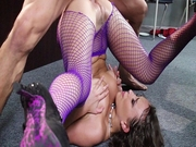 Lily Love gets her pussy slammed piledriver style