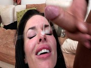 Veronica Avluv takes a facial and then gets fucked