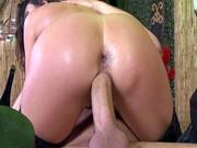 Ariella Ferrera rides and bounces on his fat cock