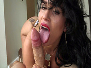 Cuban slut Carmen De Luz slobbered all over his cock in POV