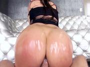 Aleksa Nicole bounced her tight asshole on that boner until she came hard