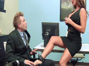 Destiny Dixon has him suck her pretty little toes until her pussy is dripping wet