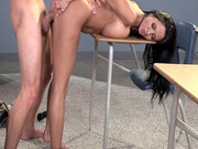 Ava Addams bends over the desk and gets her wet MILF pussy slammed