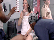 Hailey Young showing off her pussy for some of the convicts