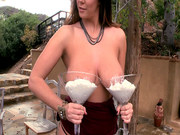 Alison Tyler having her tits covered in whipped cream and chocolate