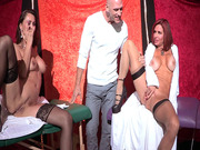 Nora Noir and Veronica Avluv rub their pussies until they're both squirting