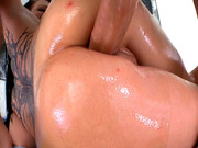 Anal bitch Casey Cumz takes giant piston in her ass