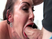 Voluptuous MILF Dayton Rains gobbled down a meaty dick