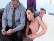 Tiffany Brookes almost caught by her nerdy hubby while having sex