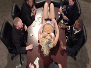 Kagney Linn Karter gives all the shady gangsters a striptease show