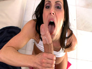 Kendra Lust stroking and sucking that flesh tower
