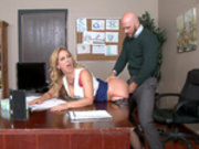 Big tits boss Cherie Deville fucks her employees husband
