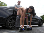 Sexy latina Luna Star fucked on her rollerboard