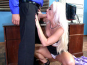 Horny office coworkers Holly Heart and Ramon can't keep their hands off each other