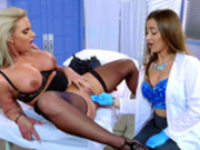 Doctor Dani Daniels goes three fingers deep with patient Phoenix Marie