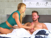 Horny milf Alexis Fawx jerks off her step daughter's boyfriend