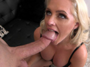 Blonde milf Alena Croft gets fed a huge hard cock