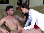 Hot Doctor Chanel Preston helps relieve her hard and married patient