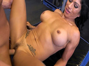 Muscle Latina Xo Rivera got her pussy drilled by Tarzan