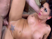 Rachel Starr gets fucked by two horny studs in a threesome