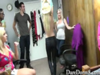 Dorm room college teen party turns into a sex orgy