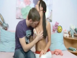 Gorgeous gal gets her holes pumped