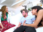 Sophia Leone shares her new boy toy with her stepmom Ariella Ferrera