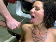 Pornstar slut Veronica Avluv gets blasted with monster cumshots