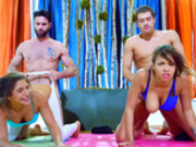 Yoga foursome with Abella Danger and Cassidy Banks