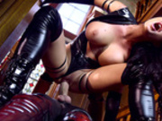 Patty Michova rides the huge cock of Magneto in XXX-Men: Psylocke vs Magneto
